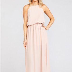 Show me your mumu pink halter top maxi dress